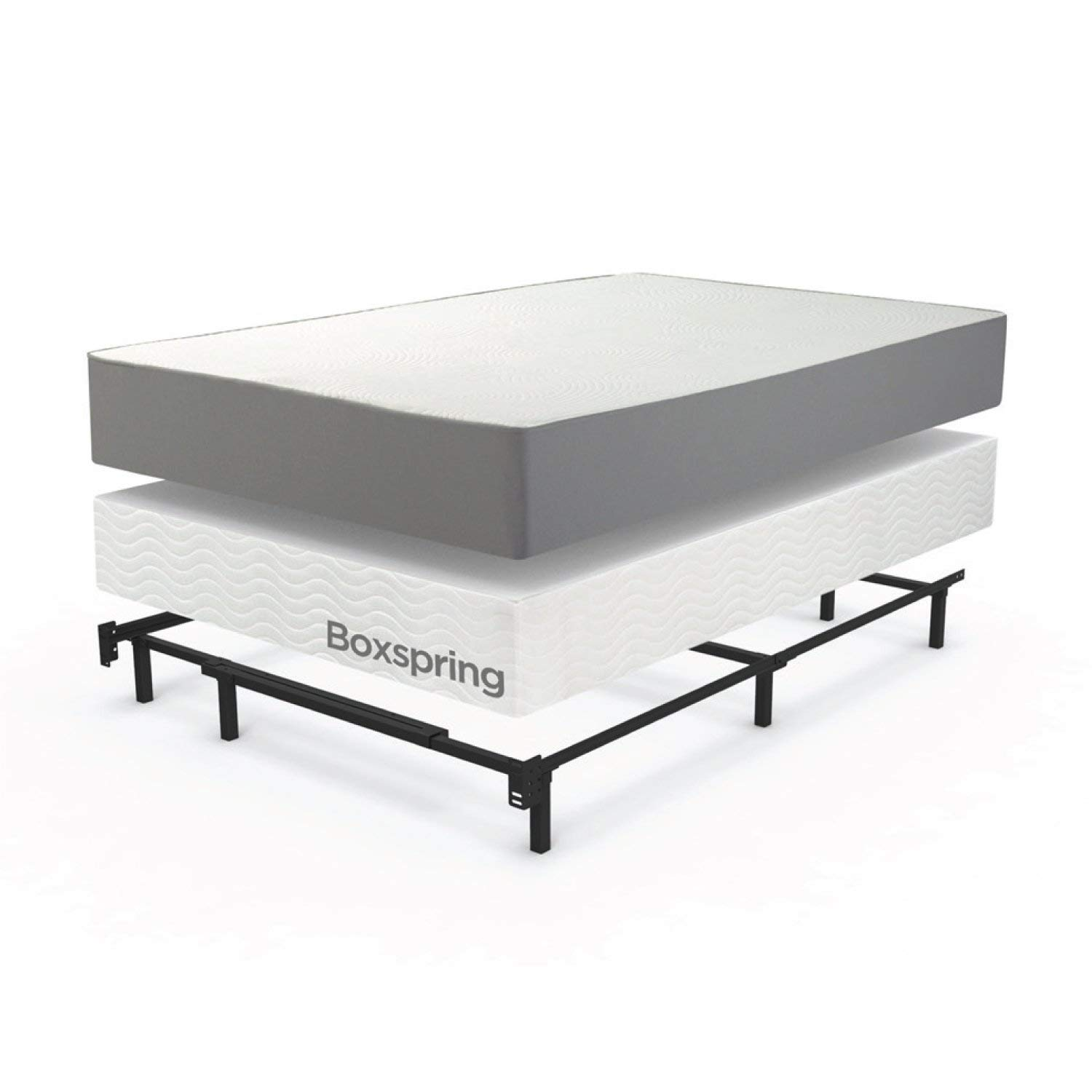 Box Spring bed amazon.com: zinus compack adjustable steel bed frame, for box spring u0026  mattress set, XXLQRLB