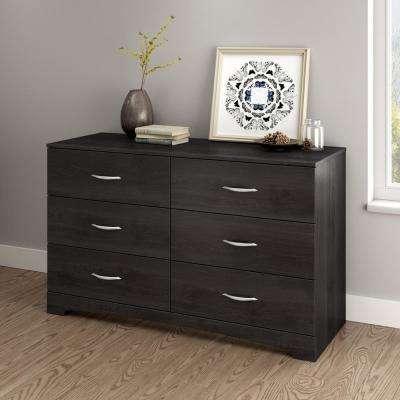 Chests of drawers step one 6-drawer grey oak dresser DMQEQGO
