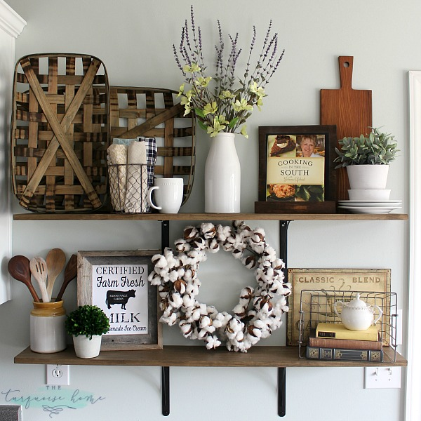 Decorating Shelves love these tips for styling shelves. these $40 diy shelves were transformed  with VCLLAYL