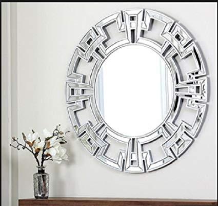 decorative mirror abbyson living pierre silver round wall mirror, wall mirror, large wall  mirror, decorative UKWVZOF