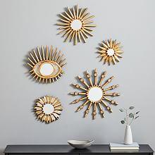 decorative mirror peruvian starburst mirrors TUMSCCM