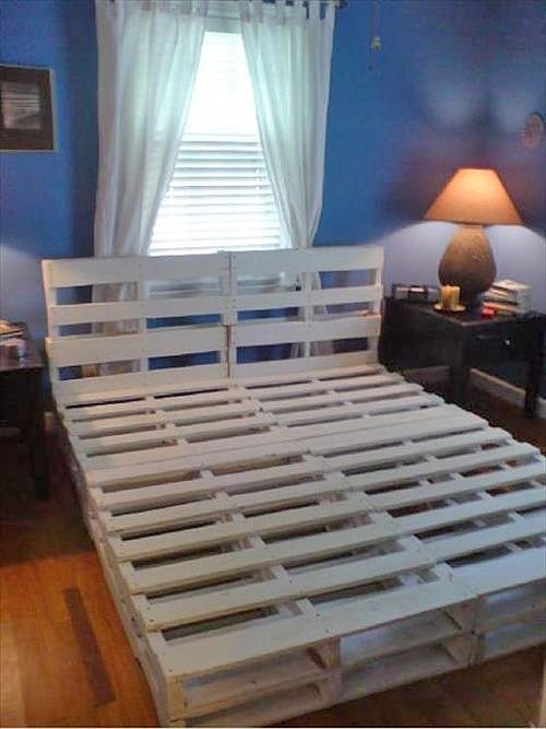 DIY pallet bed 16 gorgeous diy bed frames - tutorials, including this  VZFQOOR