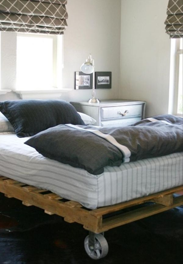 DIY pallet bed pallet addicted - 30 bed frames made of recycled pallets GGWRUUN