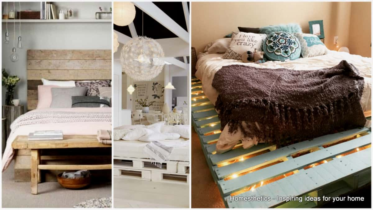 DIY pallet bed top 62 recycled pallet bed frames - diy pallet collection BGWYFTU