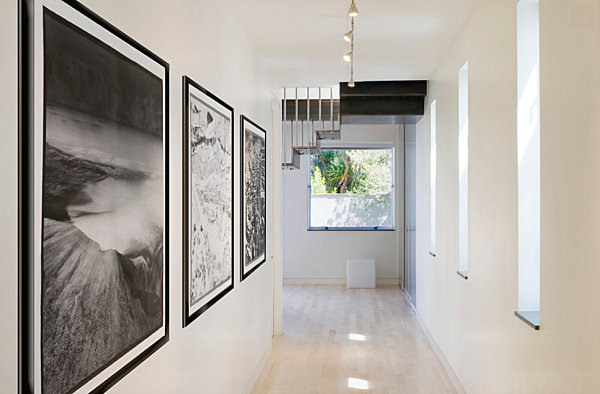 Furnishing ideas for hallway designs ideas:minimalist hallway idea with large artworks 15 interesting  modern hallway decorating ideas WWYZMCG