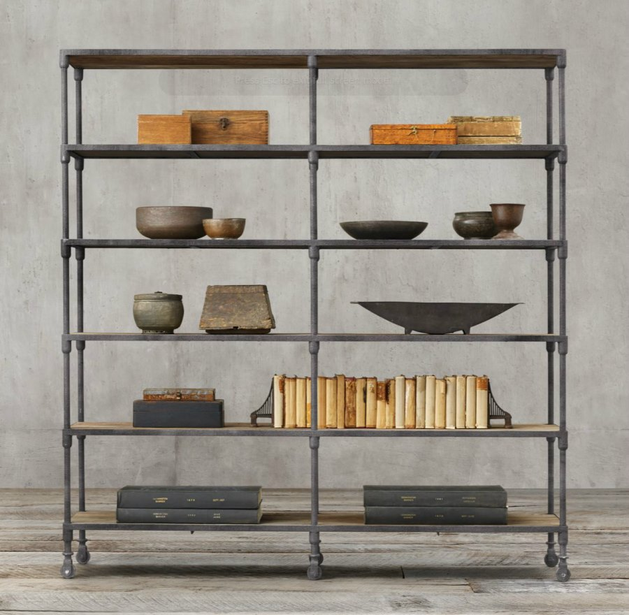 industrial design furniture view in gallery industrial shelving from restoration hardware EXNDMBS