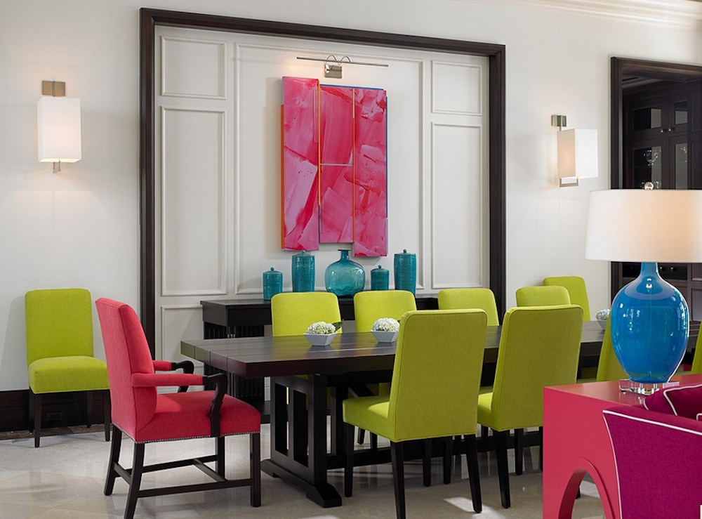 Interior design with colors balancing warm and cool colors is essential in a rectangular color scheme.  image WSGIYZZ