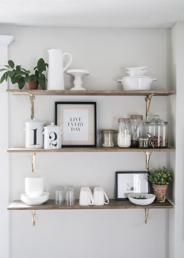 Kitchen shelf ideas kitchen open shelving project | h o m e | pinterest | kitchen, kitchen NCGUYLP
