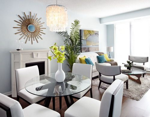 living room dining room combination small apartments big style eclectic living dining room combine - toronto -  by OGLFNOO