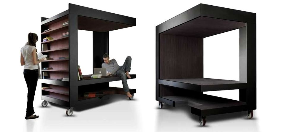 luoto is multi-functional furniture for storage, working and relaxing YACGLLD