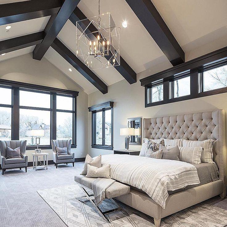 Modern bedrooms @sitamontgomeryinteriors dark master bedroom, paint colors master bedroom,  master bedroom color PPGGKJY