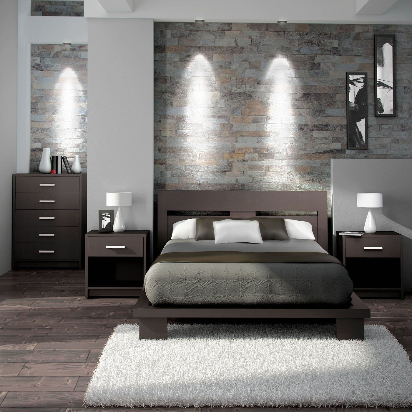 Modern bedrooms a simple and modern bedroom set in espresso brown. itu0027s made with a 100% KYNNPXC