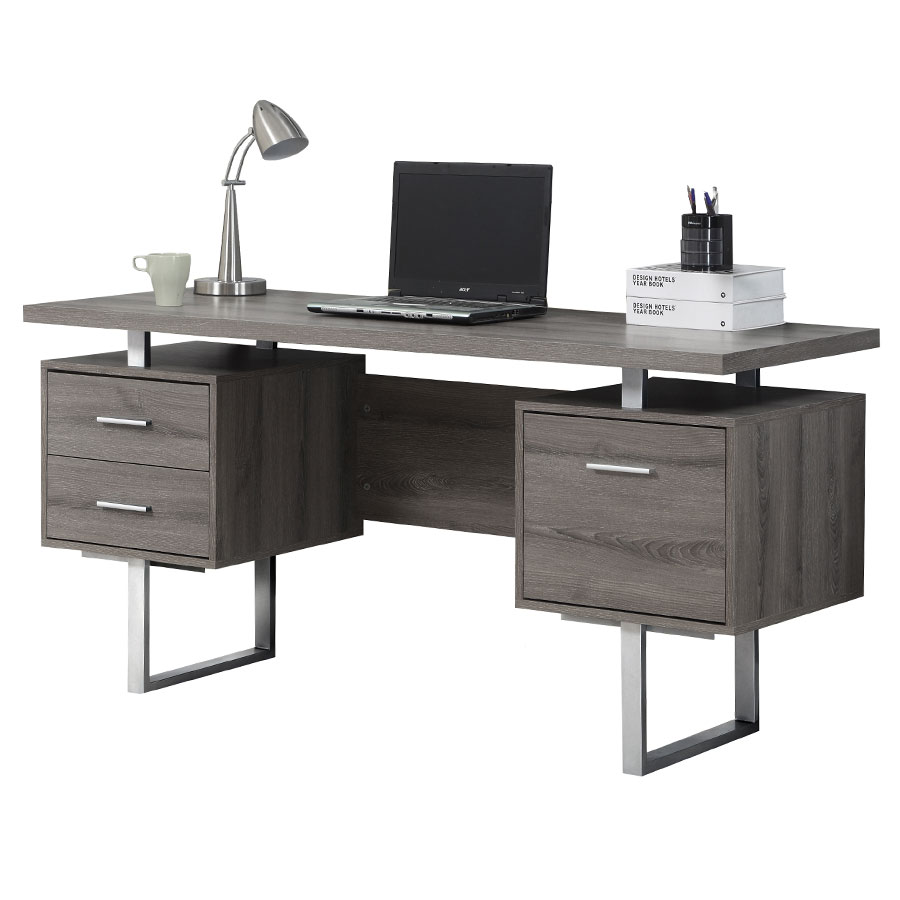 Modern Desk modern desks | harley gray washed desk | eurway modern PMRWGUS