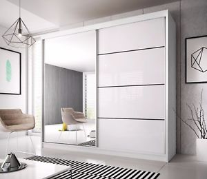 Modern Wardrobe image is loading modern-wardrobe-mu-233cm-7-ft-8-wide- PEVXUKS