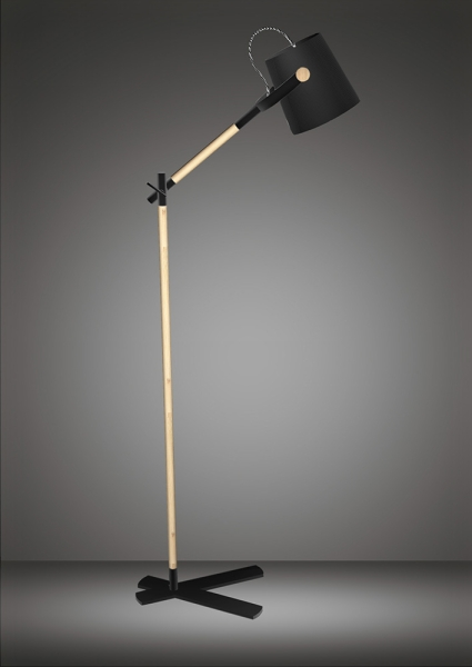Nordika lamp mantra - m4921 - mantra m4921 nordica floor lamp with black shade 1 light CCUYCJI