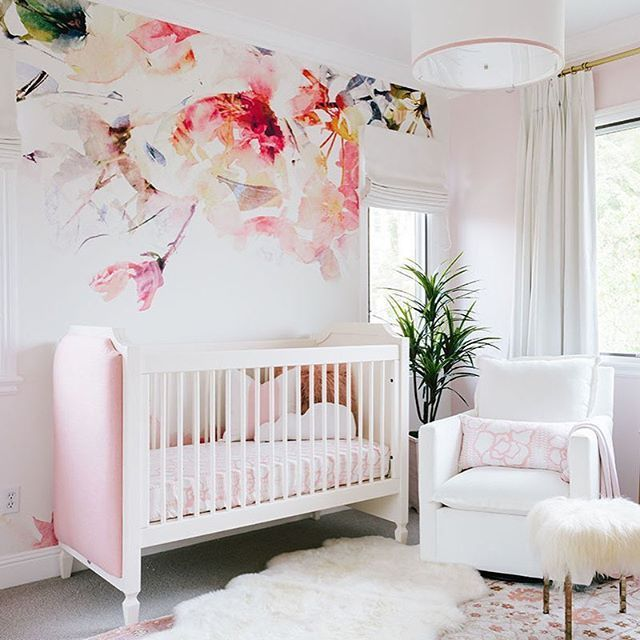 nursery wallpaper ideas girl nursery ideas pink, floral and oh-so-dreamy wallpaper! take the AKJMBLT