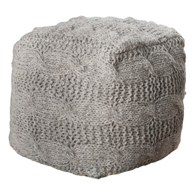 oslo pouf ottoman - gray - christopher knight home NIDSQBT