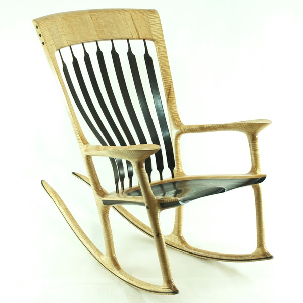 Rocking Chair Inspiration curly maple u0026 wenge BBOIAQU