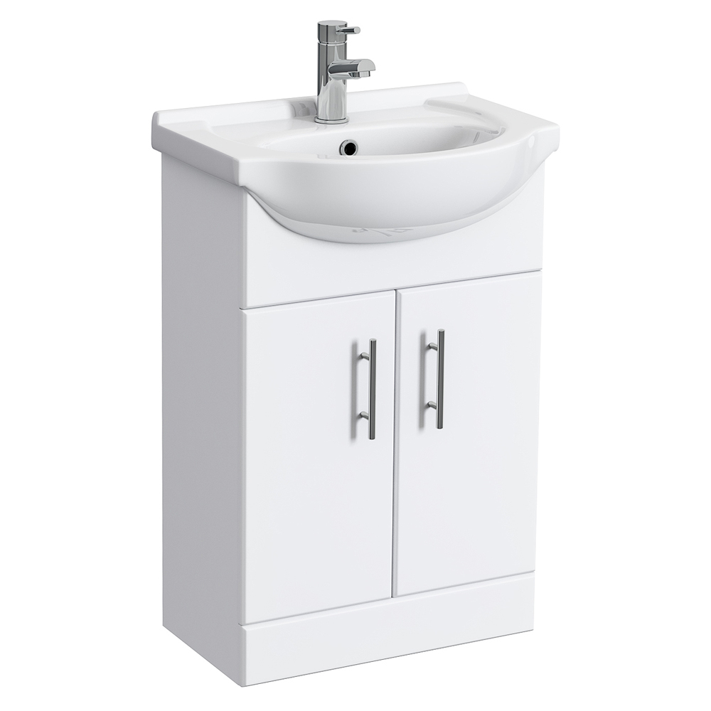 vanity unit with basin alaska high gloss white vanity unit with ceramic basin | online now NWEXHDD