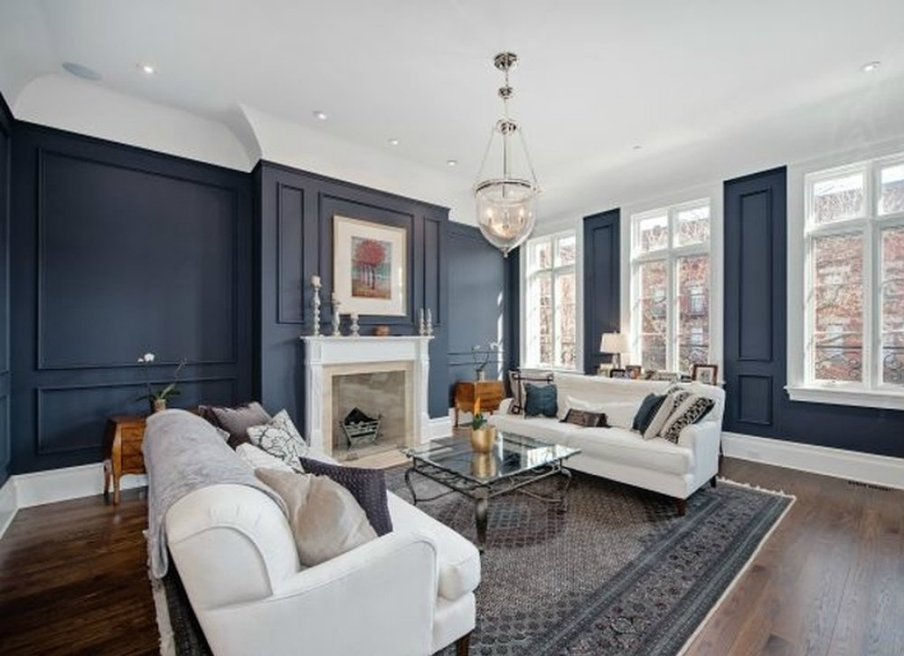 Wall Colors Ideas blue living room IBNRCHY