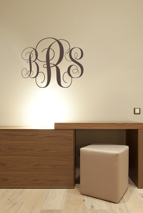 wall decal personalized fancy monogram initials vinyl wall decal | monogram letters | christmas gift MYQEIWD