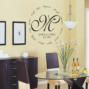 wall decal personalized personalized family encircling love monogram wall decal NEOYXUU