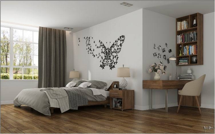 Wall design 31 elegant wall designs to adorn your bedroom walls DFXFTGK