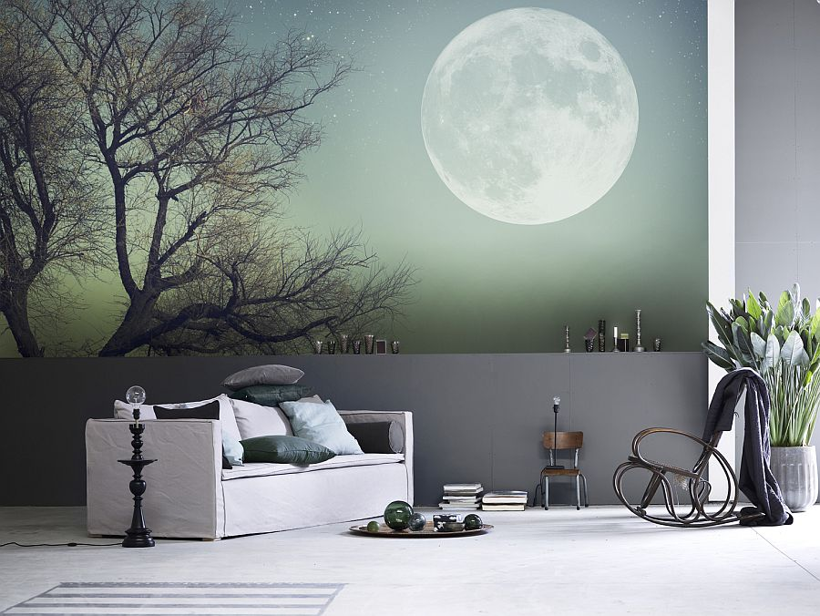 Wall mural: It's going to be stylish instead of cheesy!