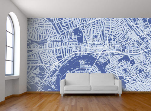 wall mural design custom map wall murals by wallpapered ... MEQWMRN