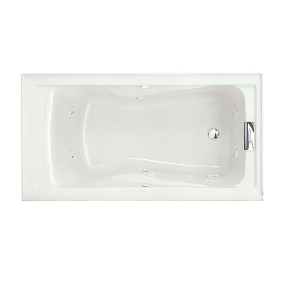 whirlpool bath american standard evolution 60 in. x 32 in. whirlpool tub with everclean in ZYPXWNK