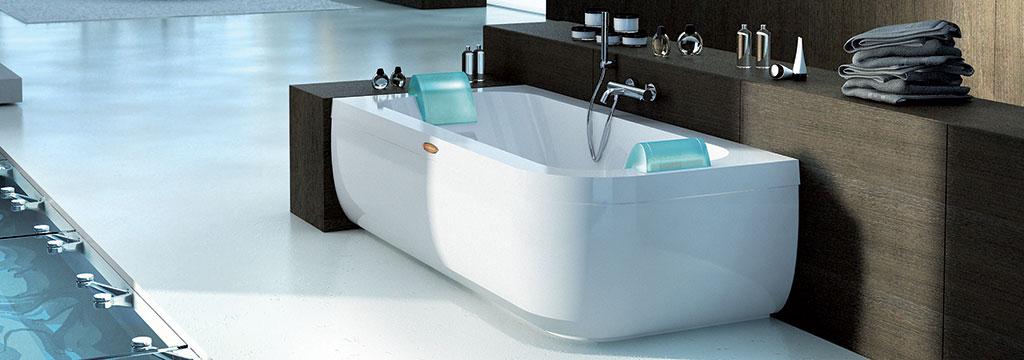 whirlpool bath aquasoul double freestanding header FGFJRKG