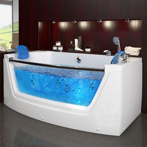 whirlpool bath model:6135-1750*850mm whirlpool jacuzzi bath shower spa straight 1 person  bathtub OWQTGBD