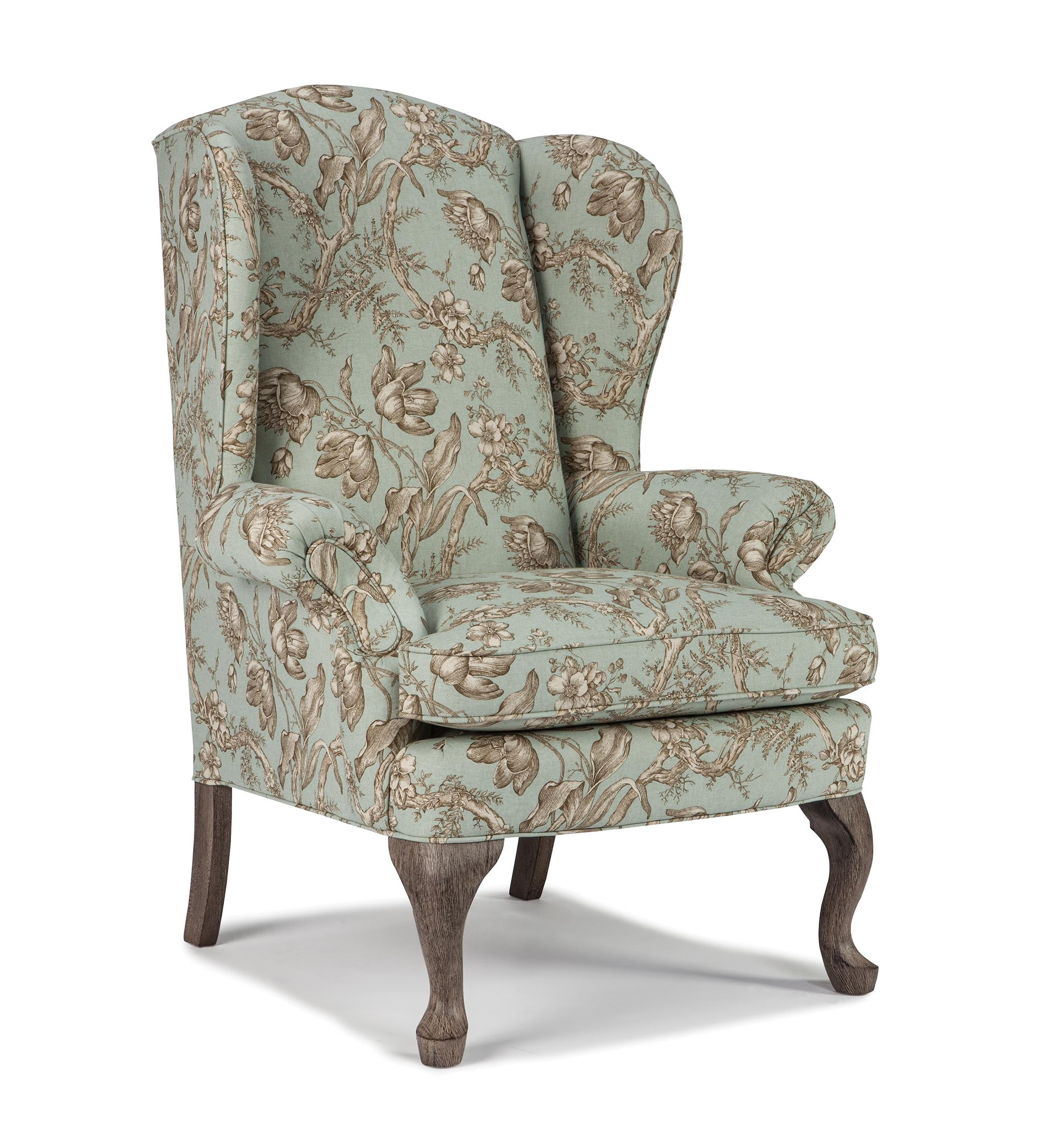 Wingback chair best home furnishings wing chairs sylvia wing chair - item number: 0710 ELUOCSW