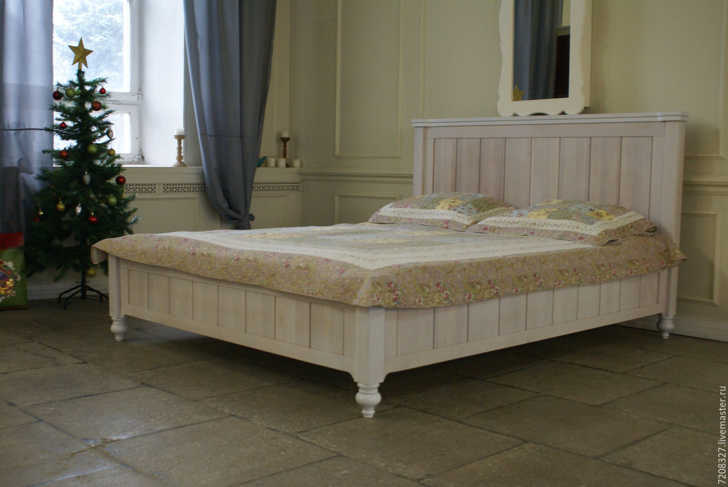 Bedroom made of beech ... bed made of solid beech wood with a lifting mechanism, we performed LFQHIJG