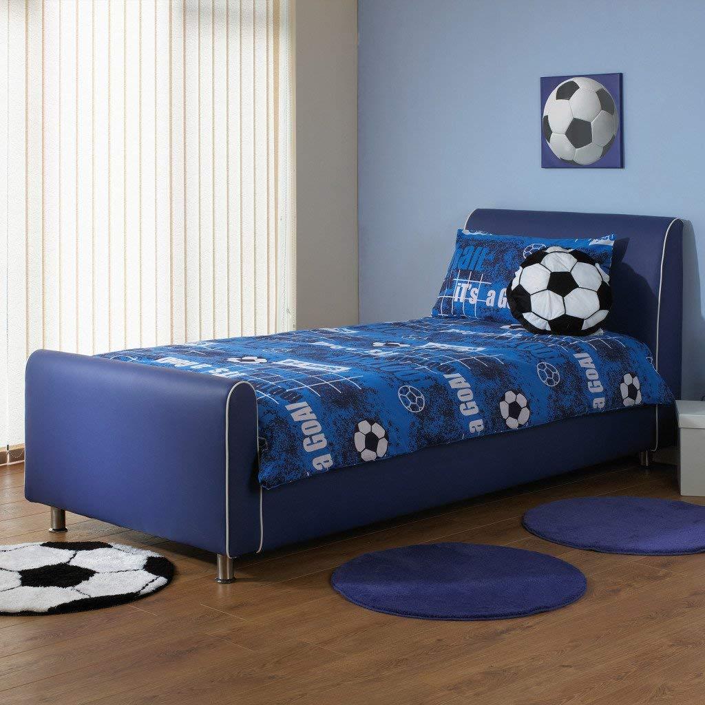 Beds for boys a u0026 i beds azure boys faux leather bedstead - 3ft single - FJJRHSE