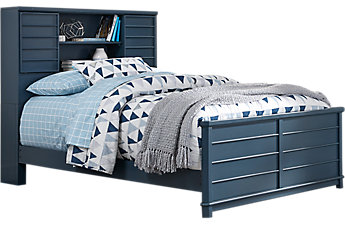 Beds for boys bay street blue 3 pc full bookcase bed VZGWCRY
