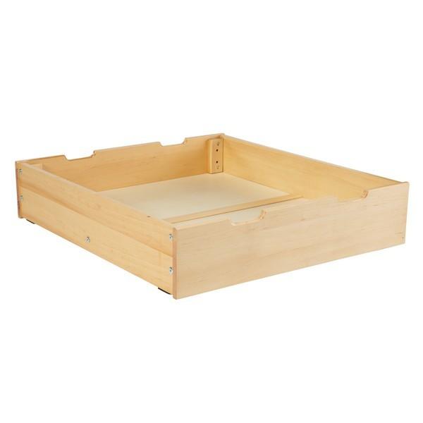 beds with under drawer storage 1600-001 : 1 under bed storage drawer : natural YKNFUGO