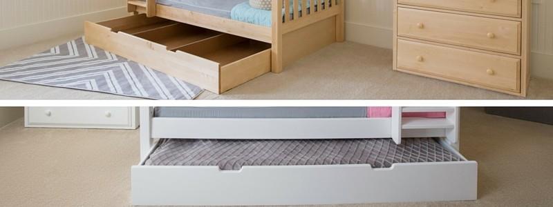 beds with under drawer storage best underbed options for kids beds: underbed storage drawers u0026 trundles EWOZWTB
