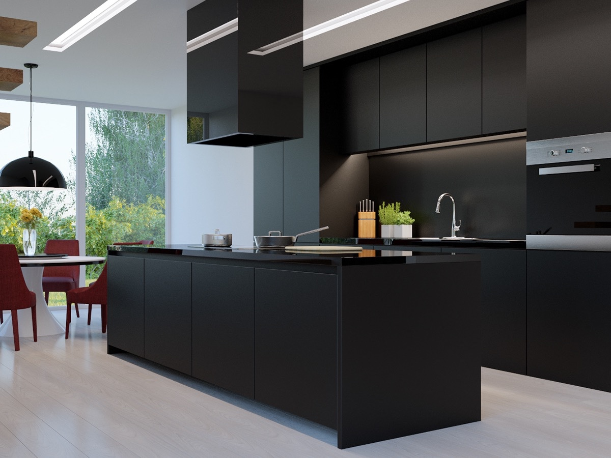 Black Kitchens 36 stunning black kitchens that tempt you to go dark for your next OHYLJWB