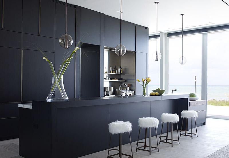 Black Kitchens waterfront homes PBGZVGA