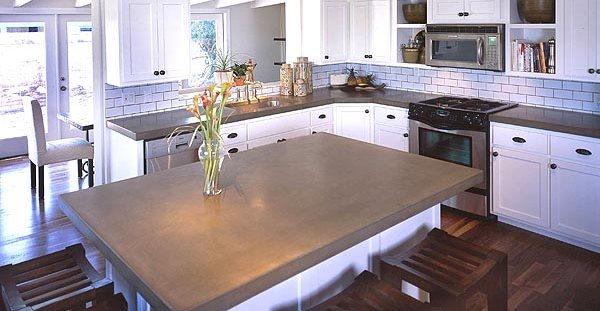 Concrete worktop in the kitchen architectural details acs/paradise concrete design studio phoenix, az PXMNNMB