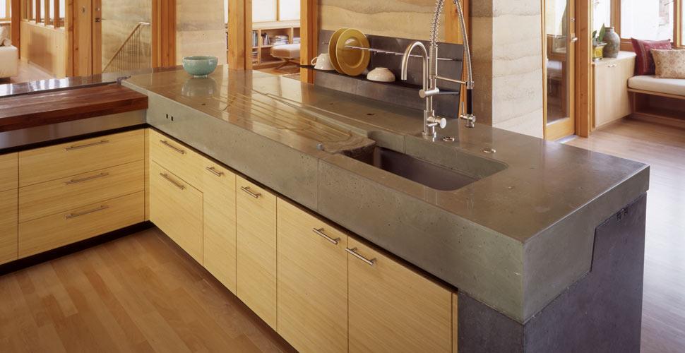 Concrete worktop in the kitchen kitchen concrete countertop by fu-tung cheng, cheng design | cheng concrete  exchange BXGBGHO
