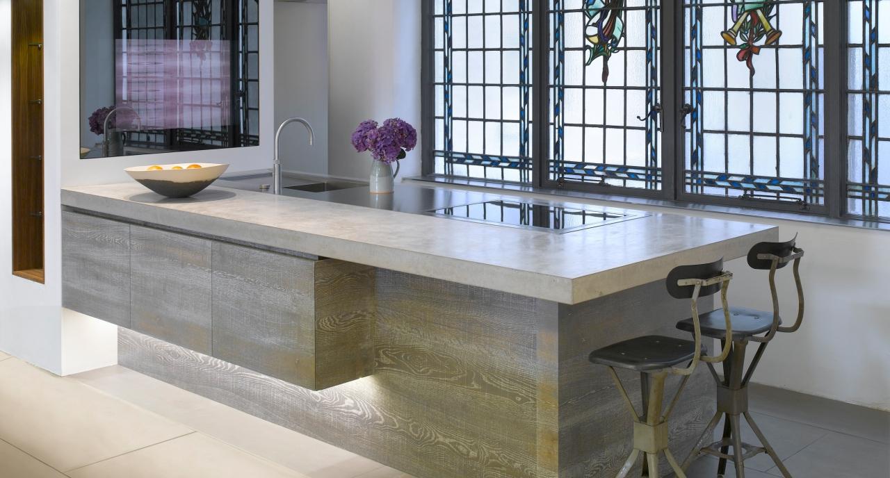 Concrete worktop in the kitchen natural grey concrete countertop 3 - ODCXYAP