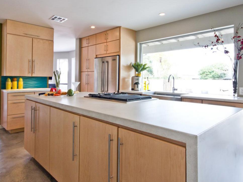 Concrete worktop in the kitchen – advantages and disadvantages at a glance