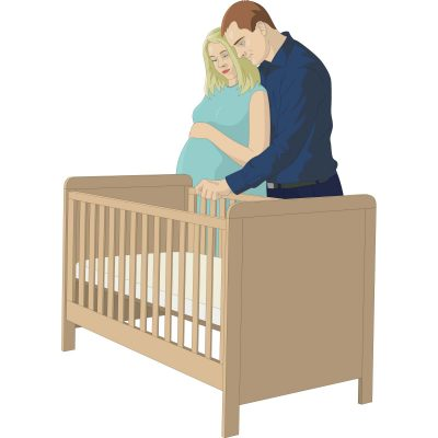 Cots with side protection couple choosing babyu0027s cot QLEXPIY