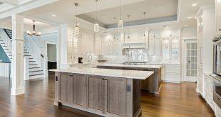 dream kitchens with white kitchen islands rich two tone kitchen. ocean inspired kitchen islands. white countertops GGFREWC