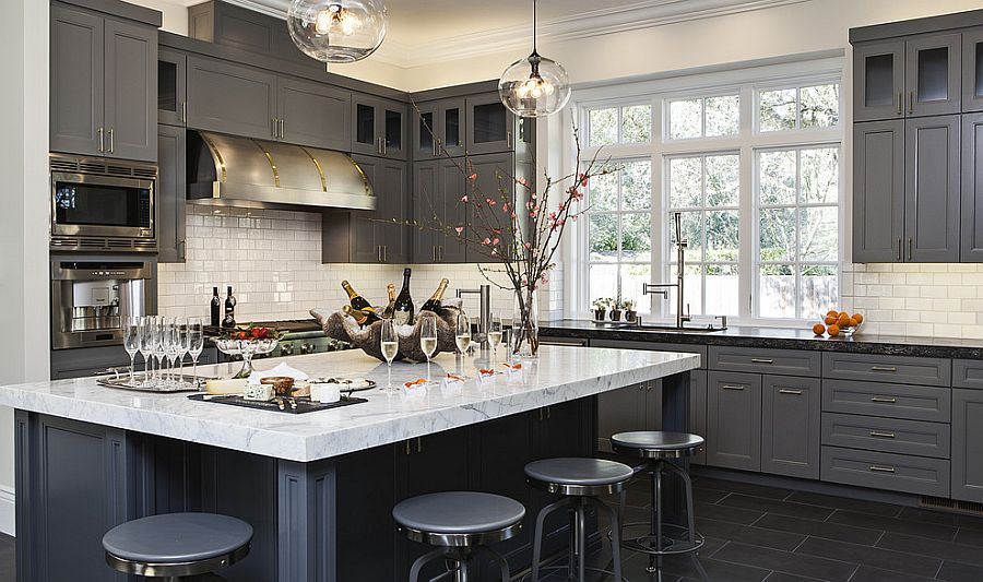 Gray Kitchens view in gallery charcoal gray is a popular choice in contemporary kitchens GAUFRUJ