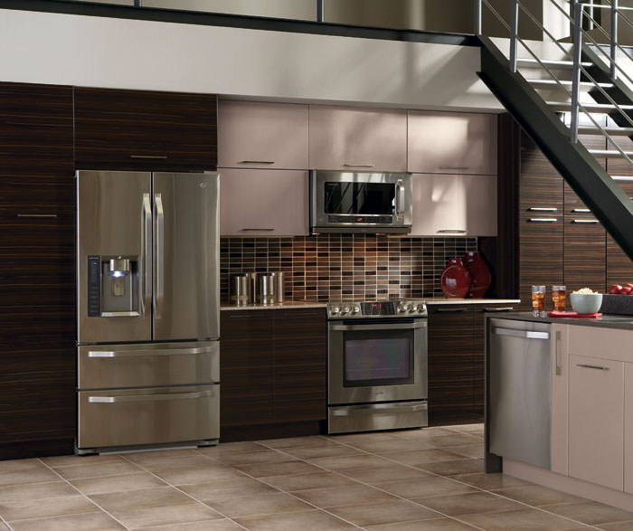 high gloss kitchen cabinets in thermofoil ... LQNPVTM