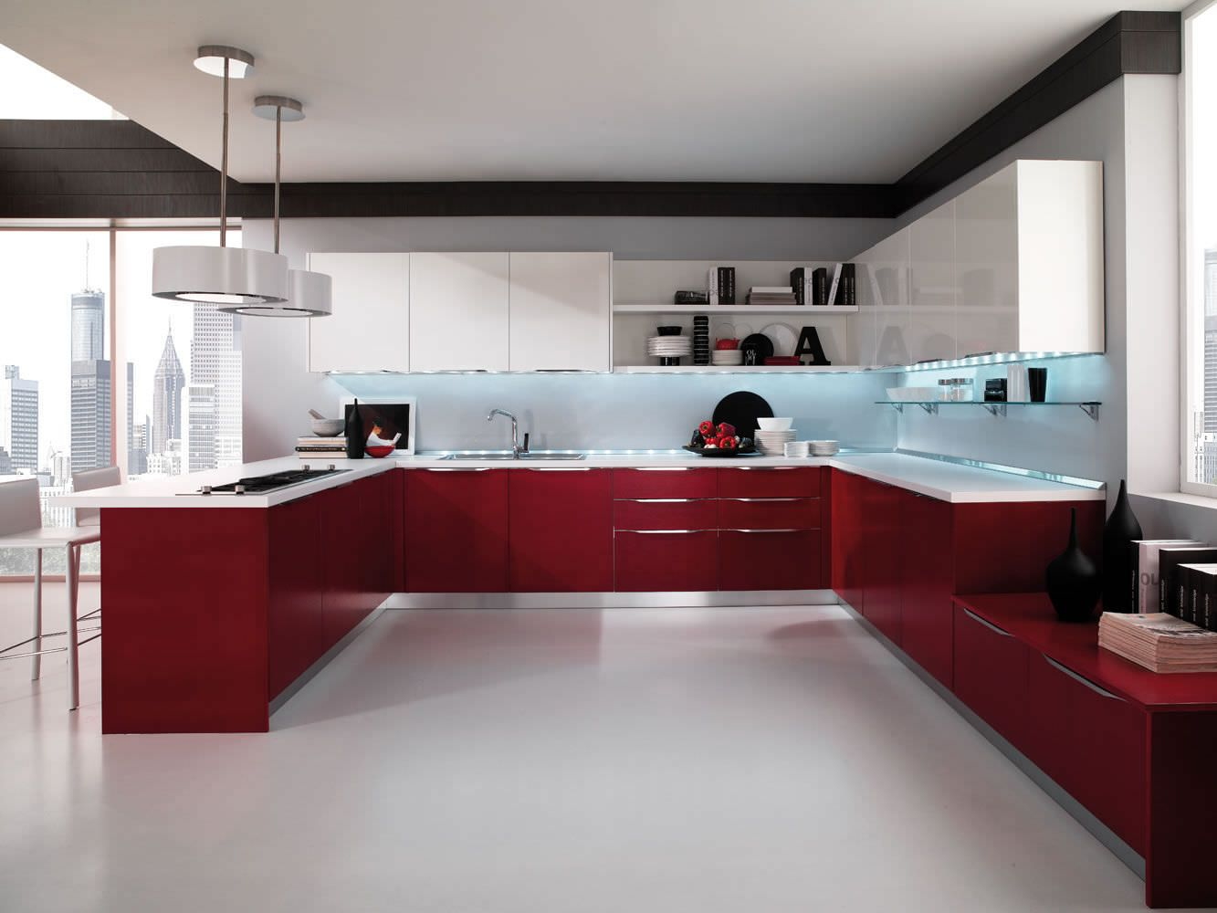 High gloss kitchens contemporary kitchen lacquered high gloss airone torchetti cucine ipc427 - high  gloss KVUGKQV