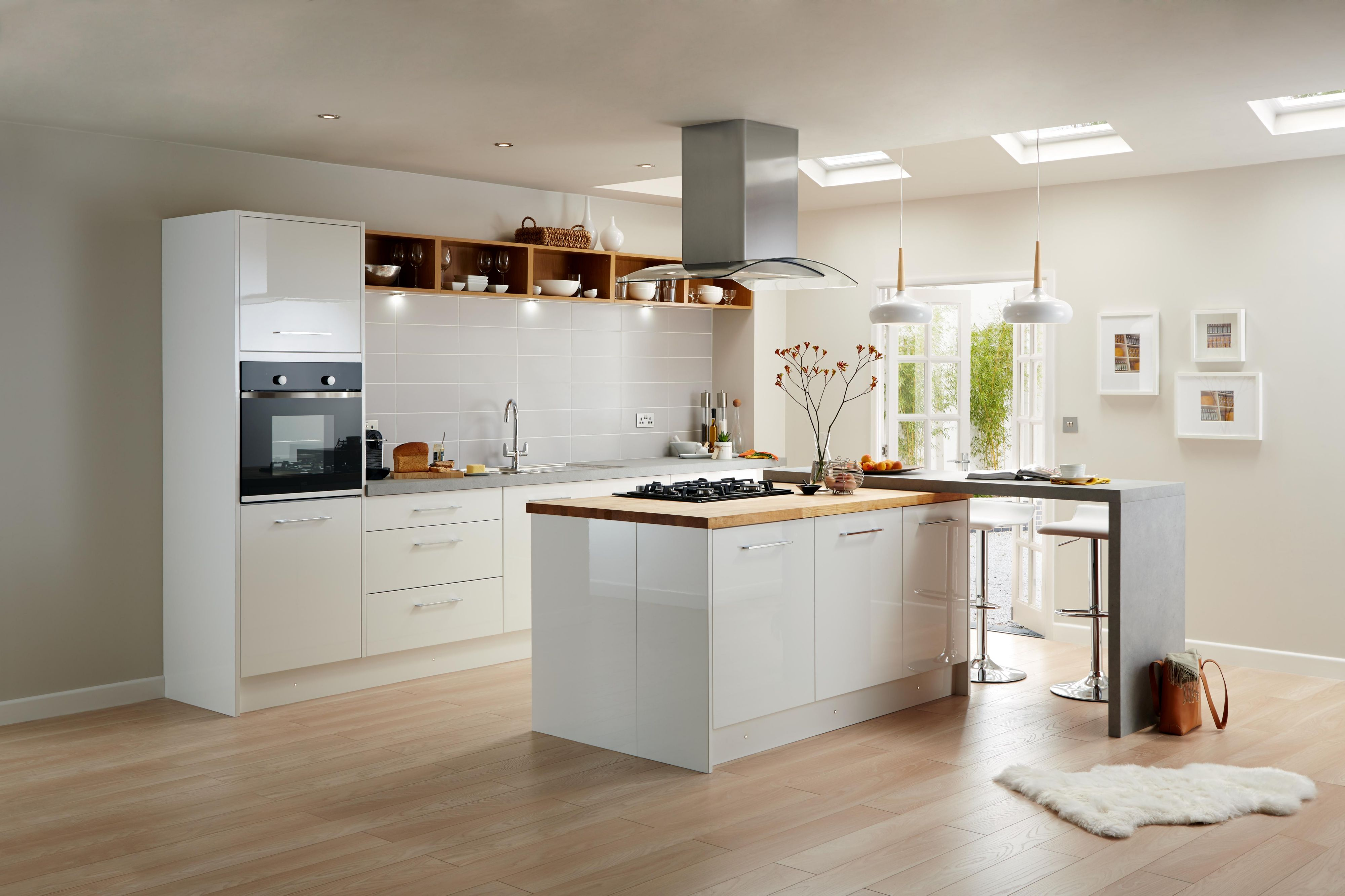 High gloss kitchens cooke u0026 lewis raffello high gloss white slab COUKTVD